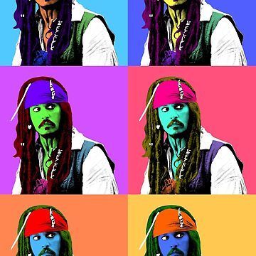 Captain Jack Sparrow Andy Warhol style Poster, Pop Art 6 Color Digital Poster Portrait. Pirates of the Caribbean. by StRes