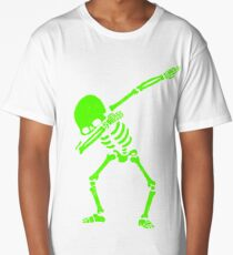 Dabbing Skeleton Green Long T-Shirt