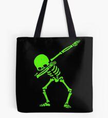 Dabbing Skeleton Green Tote Bag