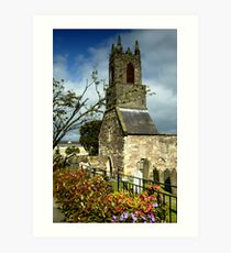 Clock Tower, Holywood Priory Church Art Print