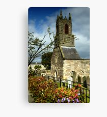 Clock Tower, Holywood Priory Church Canvas Print