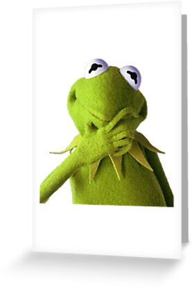 Kermit thinking greeting cards by erikdactyl redbubble kermit thinking by erikdactyl m4hsunfo