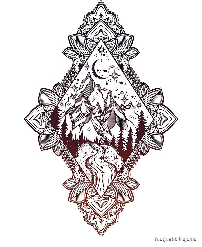 «Camino a las montañas dentro de un diamante de Paisley» de MagneticMama