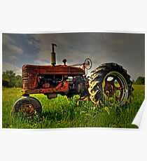 Farmall Field Of Green Poster
