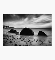 Hidden Bowling Ball Beach in Northern California Photographic Print
