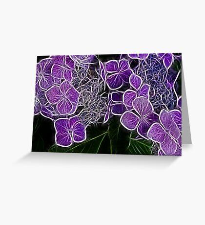 Colour me Purple  Greeting Card
