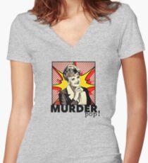 Murder, She Wrote POP ART Women's Fitted V-Neck T-Shirt