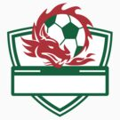 Red Dragon Soccer Ball Crest by patrimonio