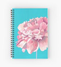 Pink Peony in Teal Spiral Notebook