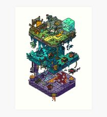 Dungeons and Isometric Dragons Art Print