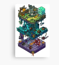 Dungeons and Isometric Dragons Canvas Print