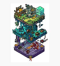 Dungeons and Isometric Dragons Photographic Print