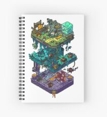 Dungeons and Isometric Dragons Spiral Notebook