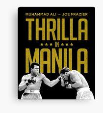 Thrilla In Manila Canvas Print