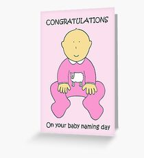 Congratulations on female baby naming ceremony. Greeting Card