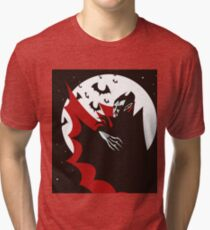 evil vampire in the night Tri-blend T-Shirt