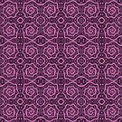 Pink Purple Lace, Abstract Arabesque Pattern by clipsocallipso