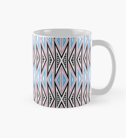 Aztec Boho Pastel Pink Blue Mug
