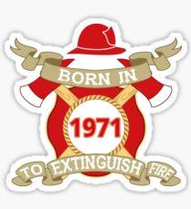Born 1971 Fire Feuerwehr Sticker