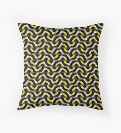 Gold Chain Optical Pattern Throw Pillow