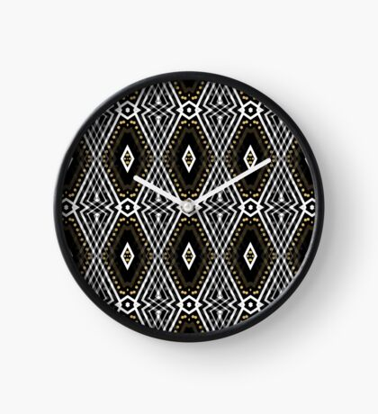 Tribal Diamond Pattern Clock