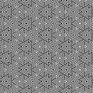 Black White Triangle Stripes by webgrrl