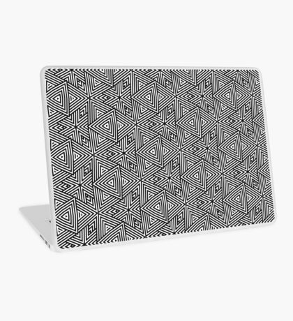 Black White Triangle Stripes Laptop Skin