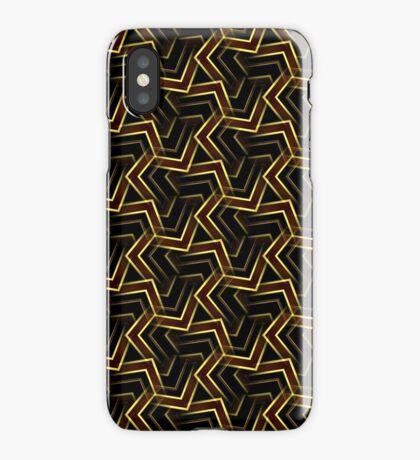 Burgundy Gold Korner Pattern iPhone Case