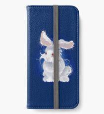 Magisches weißes Kaninchen (Hase) iPhone Flip-Case/Hülle/Klebefolie