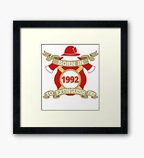 Born 1992 Fire Feuerwehr Framed Print