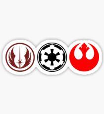 Star Wars - Rebel, Jedi and Empire Symbols Sticker