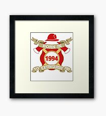 Born 1994 Fire Feuerwehr Framed Print