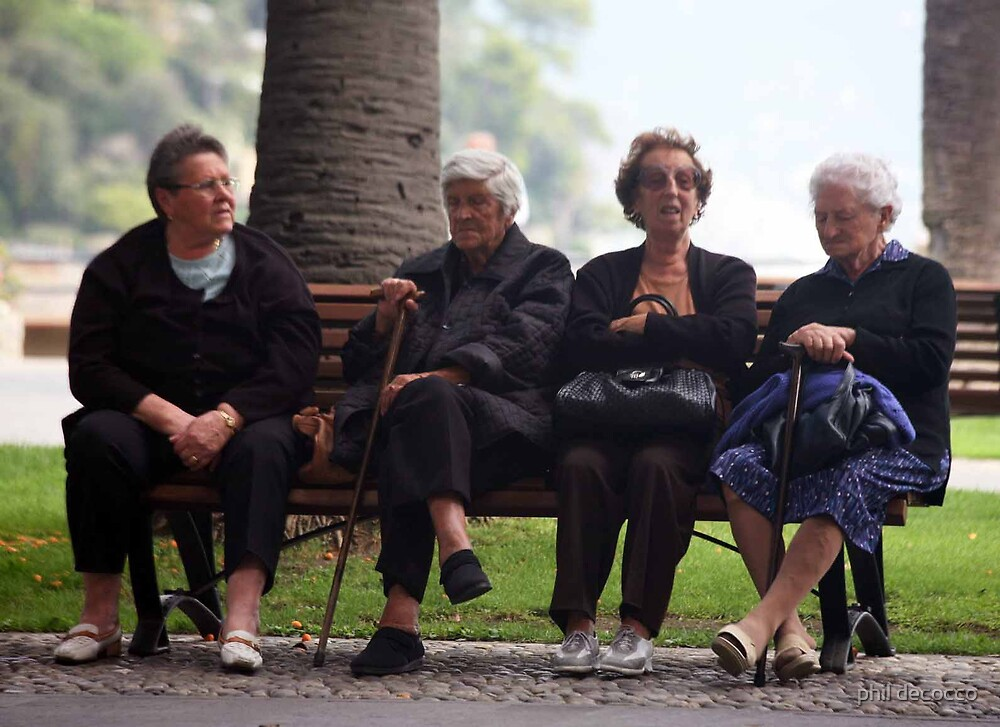 Bench Ladies by phil decocco