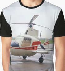 McCulloch J-2 Aero Super Gyroplane Small Helicopter Graphic T-Shirt
