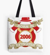 Born 2006 Fire Feuerwehr Tote Bag