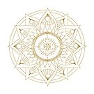 Mandala : Gold Glimmer by danita clark