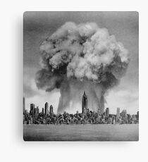 Bomb versus Metropolis Canvas Print
