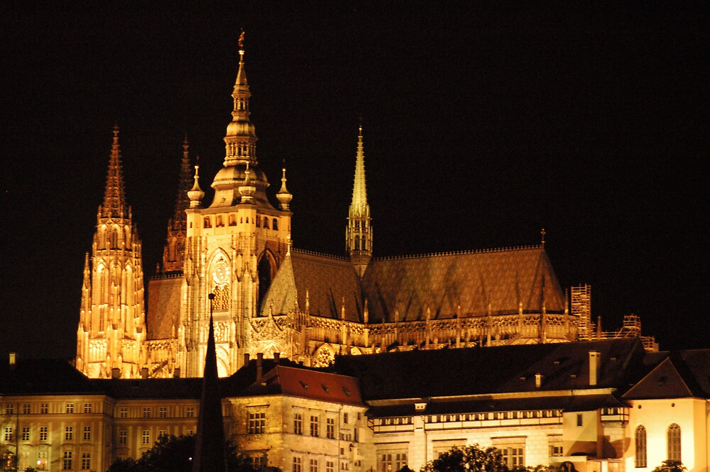Prague, cathedral at night  by Stan Daniels