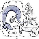 dachshund sausagedog by kulawiecka