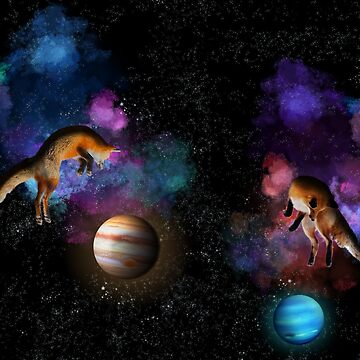 Foxes in Space by MariaKramer