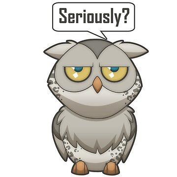 Annoyed Owl [Leopard] by plaguewolfen