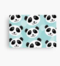 Cute panda face Canvas Print
