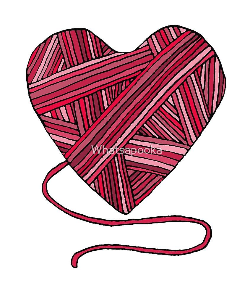 Pink Yarn Heart by Whatsapooka
