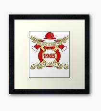 Born 1965 Fire Feuerwehr Framed Print