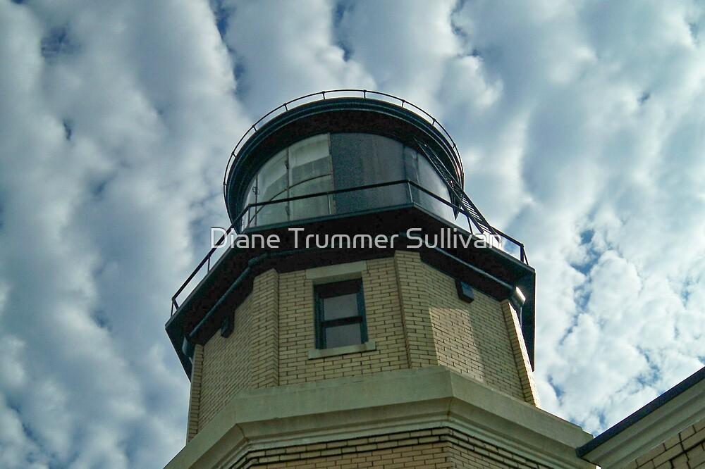 Split Rock Lighthouse & Clouds  by Diane Trummer Sullivan