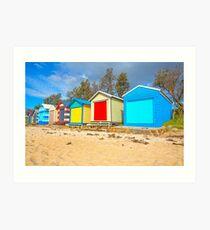 Beach Huts... Art Print