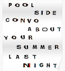 Pool Side Convo Poster