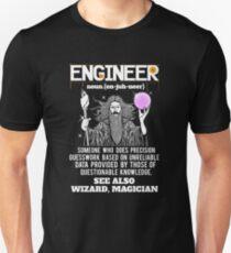 Engineer Funny Mechanical Civil Engineering Wizard Unisex T-Shirt