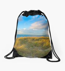 Looking out to sea.... Drawstring Bag