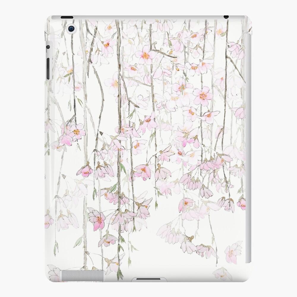 acuarela de cerezo rosa Funda y vinilo para iPad